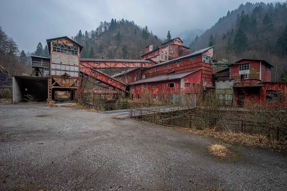 Beautiful old buildings, at this old mine