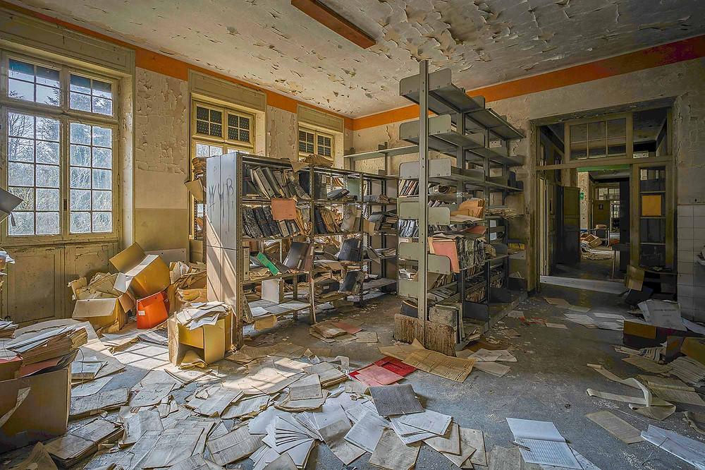 Journaler på forladt hospital i Italien