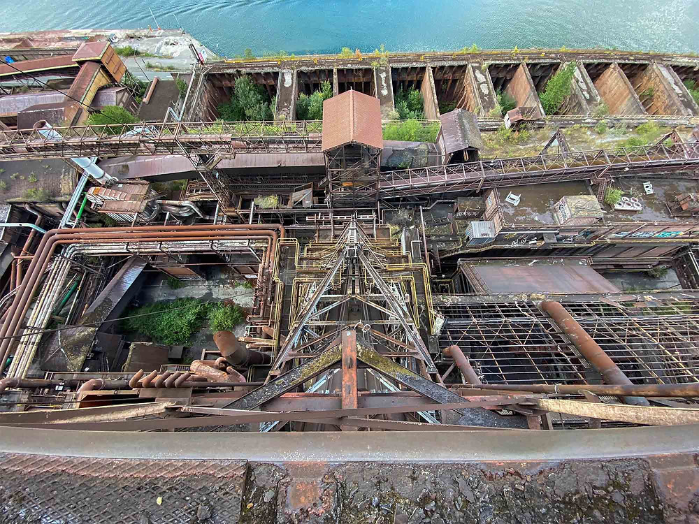 From the top of the abandoned blast furnace