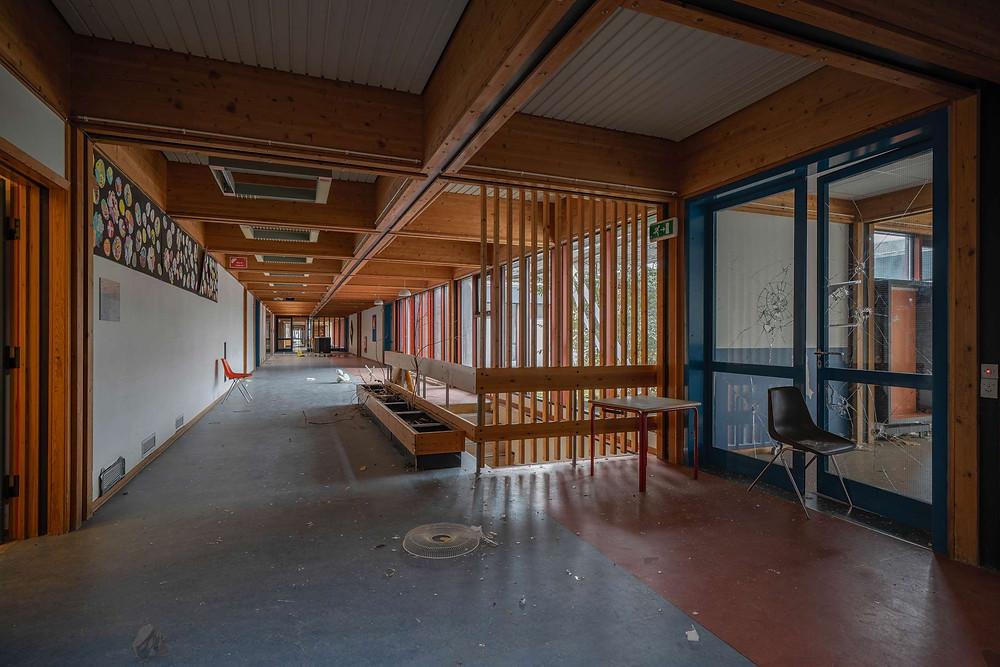 Tjørnelyskolen efter lukningen i 2017