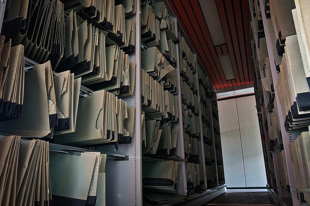 Arkivet på den forladte Forsvarskommando