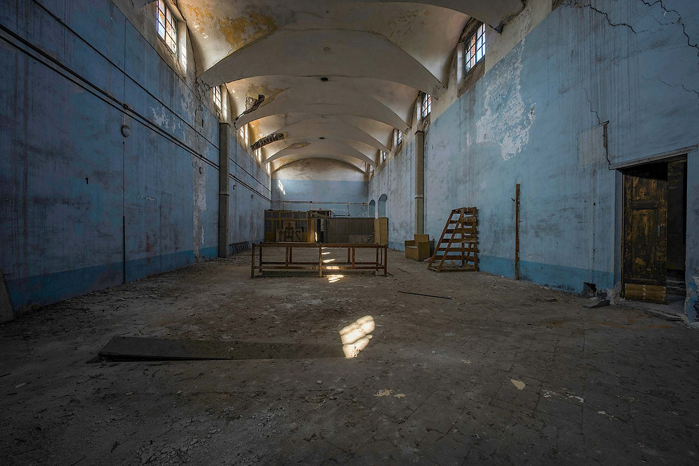 Beautiful light and decay in abandoned hospital