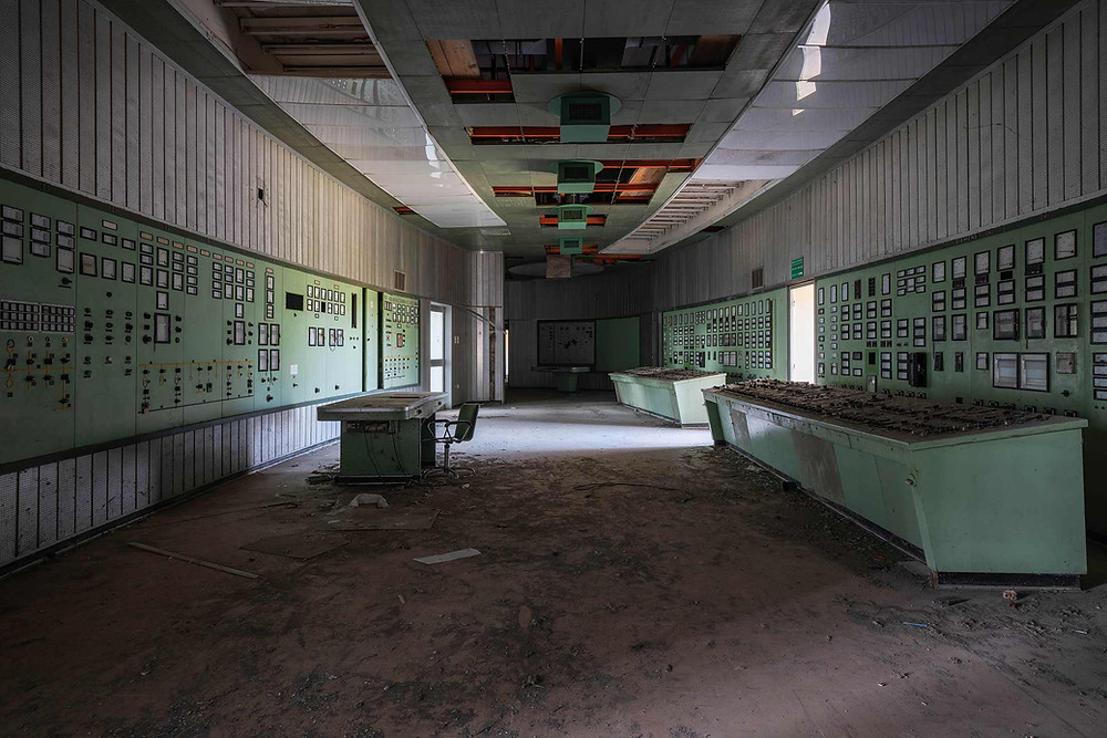 Forladt kontrolrum i Italien