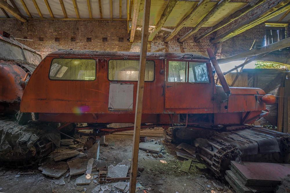 Forladte Antarktis køretøjer