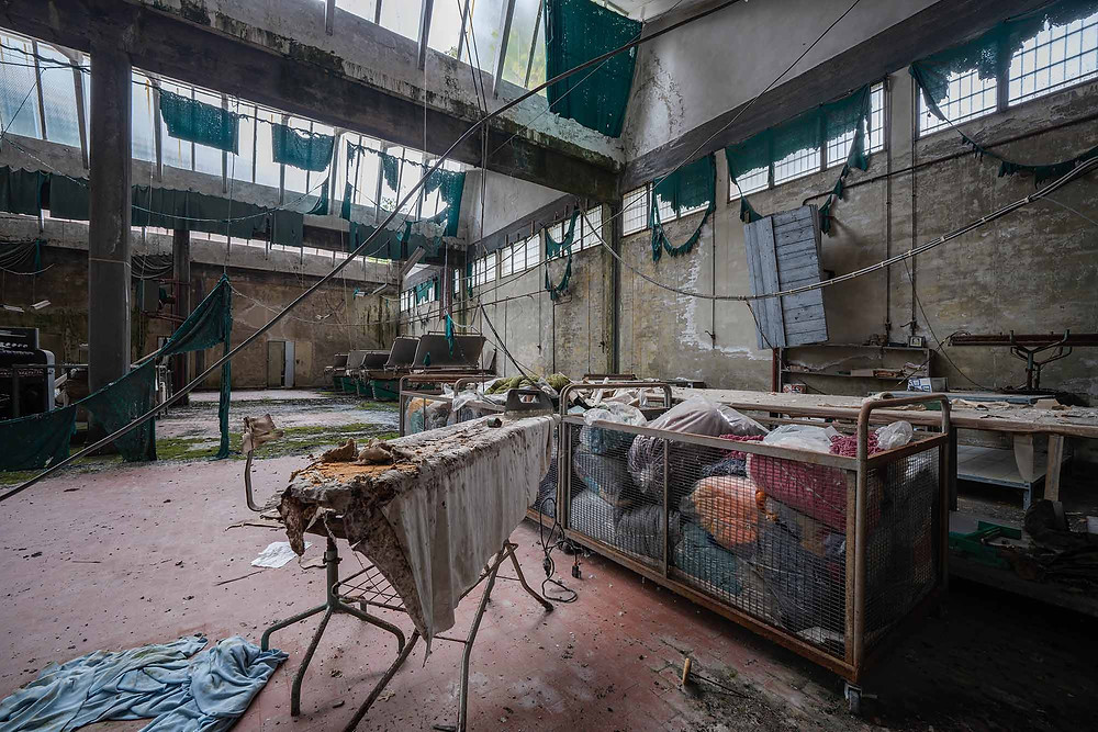 Abandoned clothing factory in Italy
