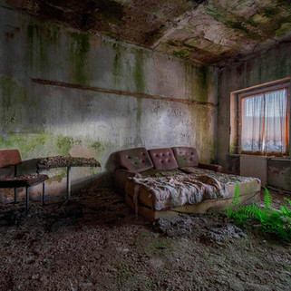 Forladt DDR hotel: FDGB Mooskombinat