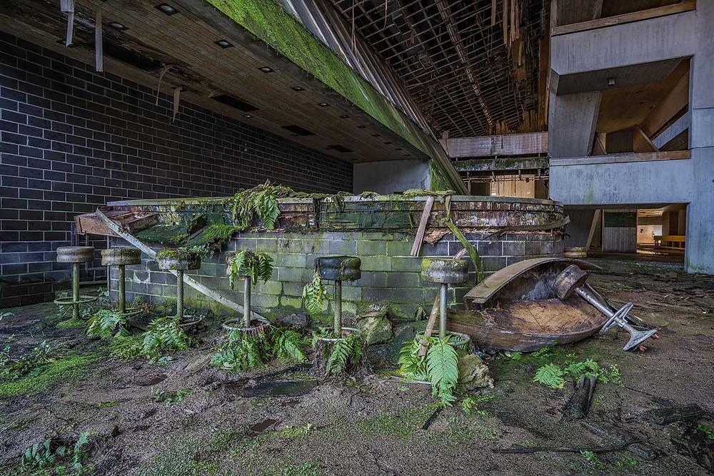 The bar at abandoned school