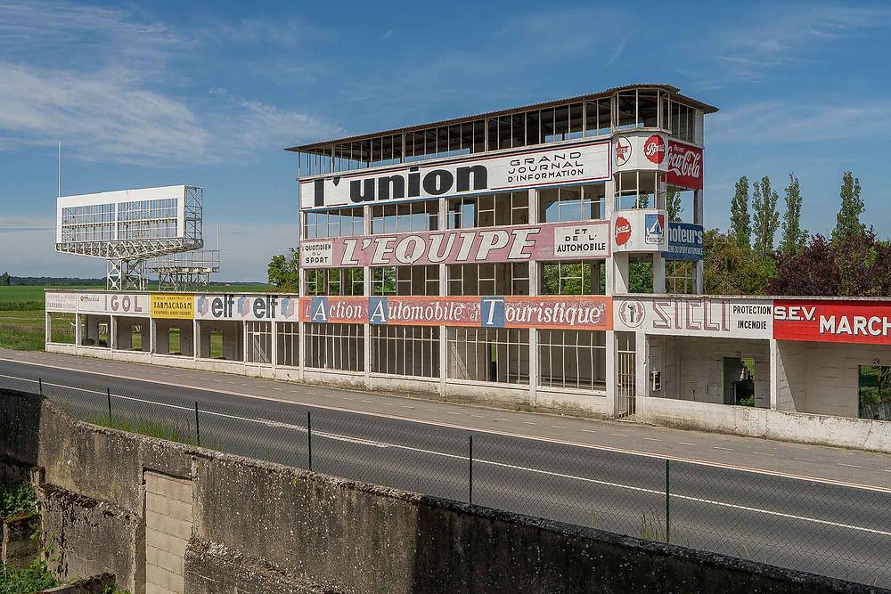 Abandoned racetrack Circuit de Reims Gueux pit