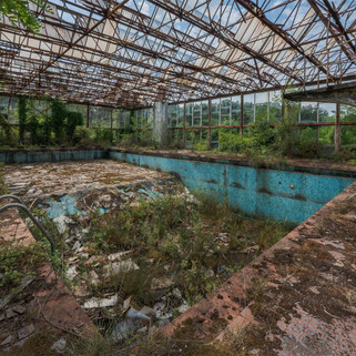 Decayed swimming pool in Italy