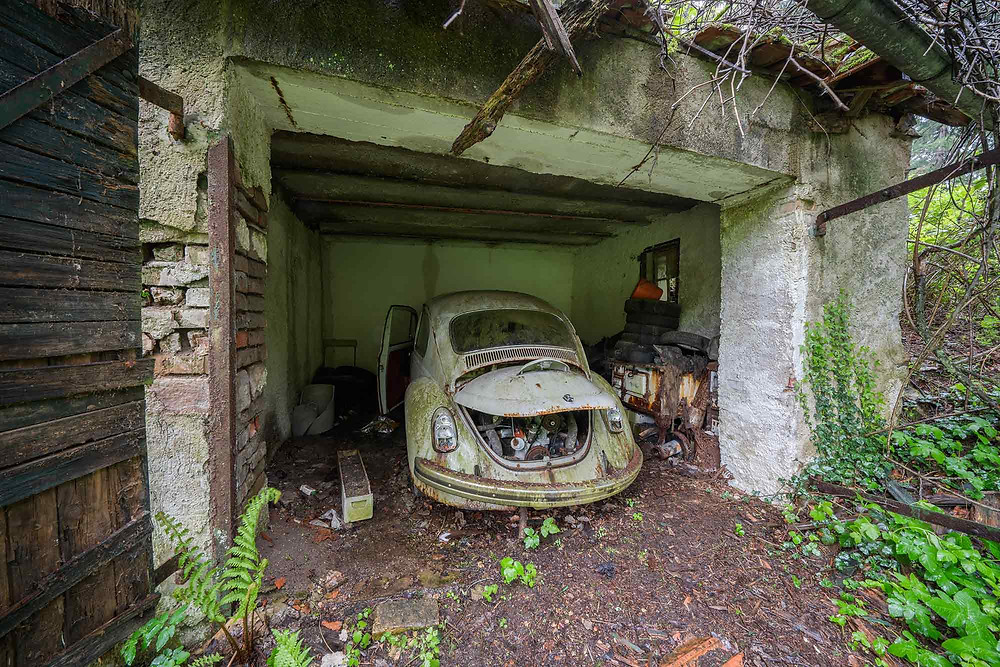 Abandoned Beetle at factory in Germany