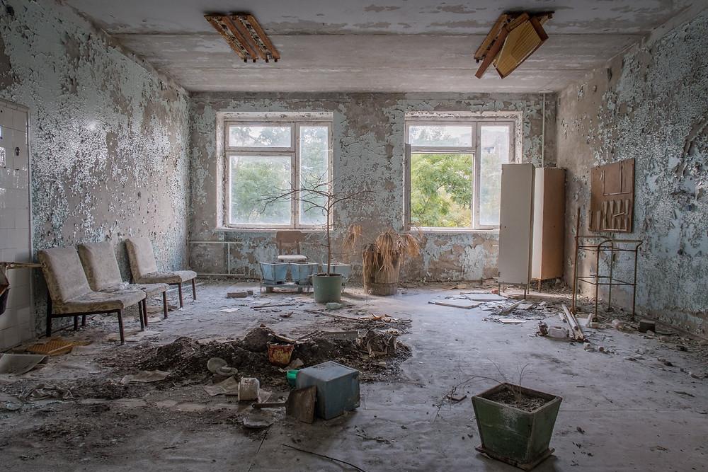Hospitals vente rum efter Tjernobyl ulykken