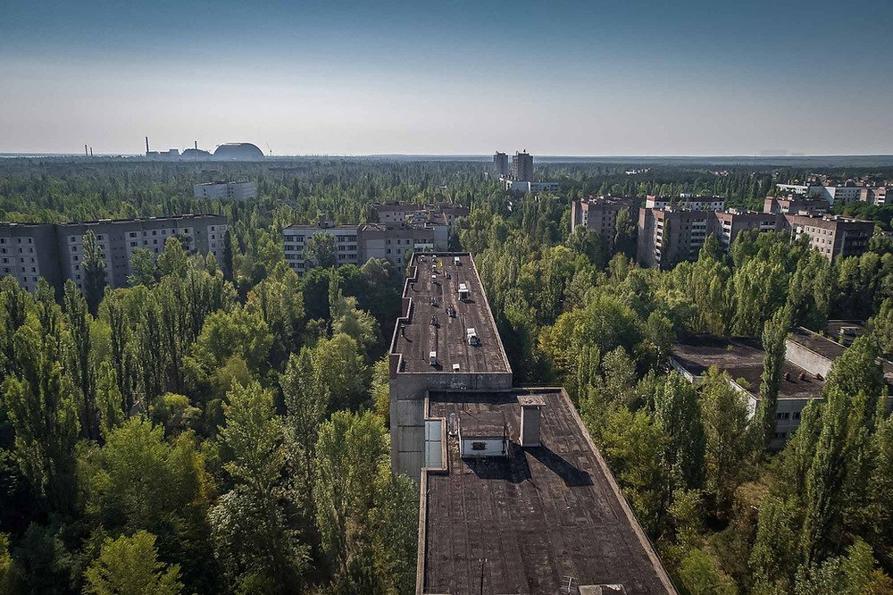 Overview of abandoned town of Chernobyl