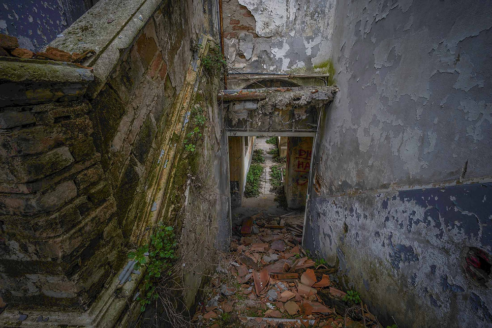 Natural decay at abandoned monastery in Italy