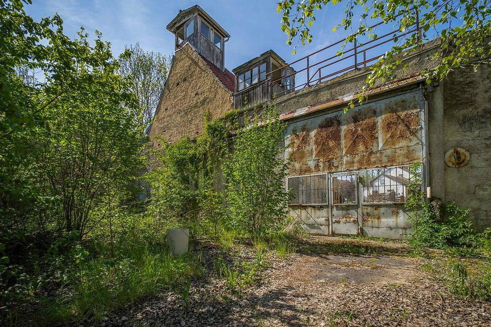 Tårne til fangevogterne i forladt fængsel