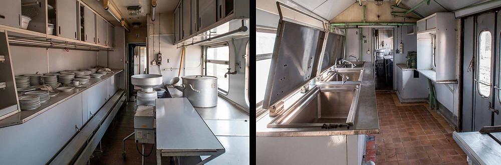 Abandoned DDR katastrophenzug kitchen wagon