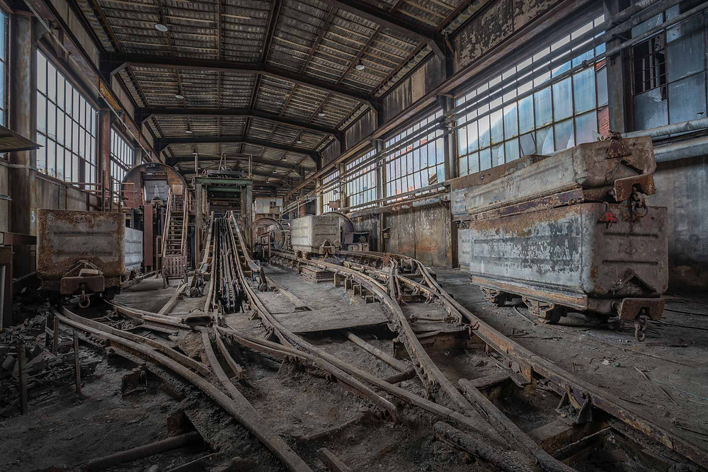 Abandoned decayed coal mine in France - Mineurs W