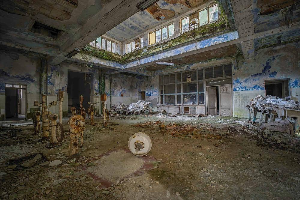 Køkken på forladt hospital i Italien