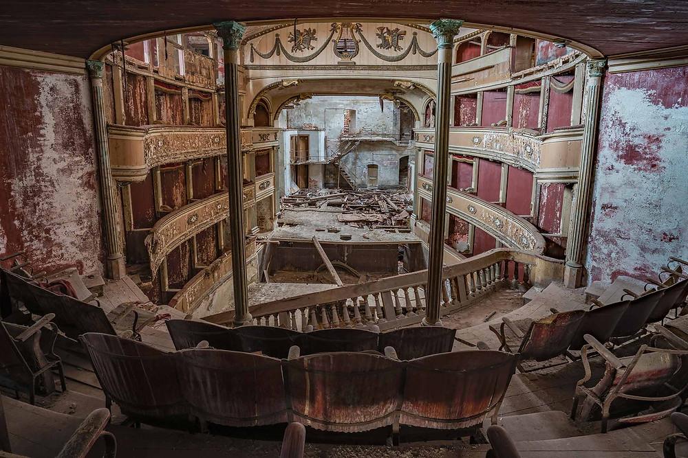 Abandoned Teatro Balconi in Italy