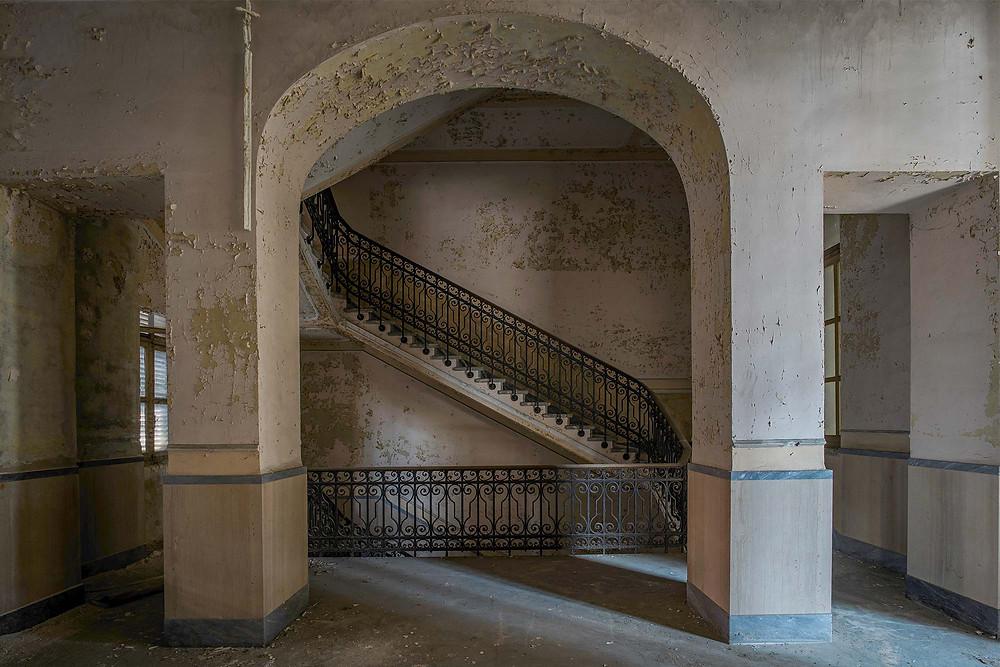Beautiful details on abandoned mental hospital