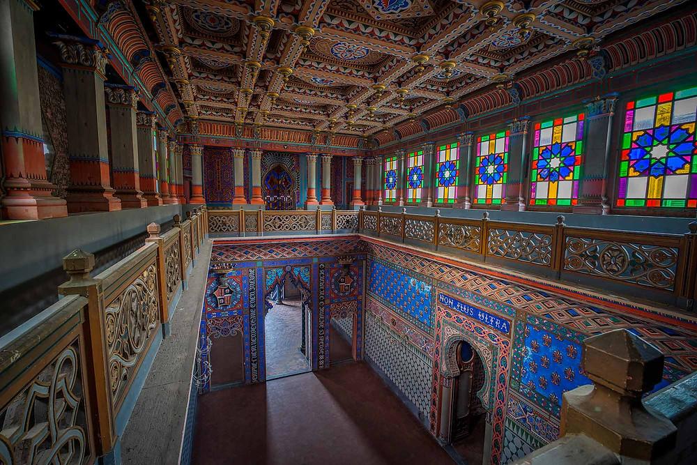 Forladt slot i Italien