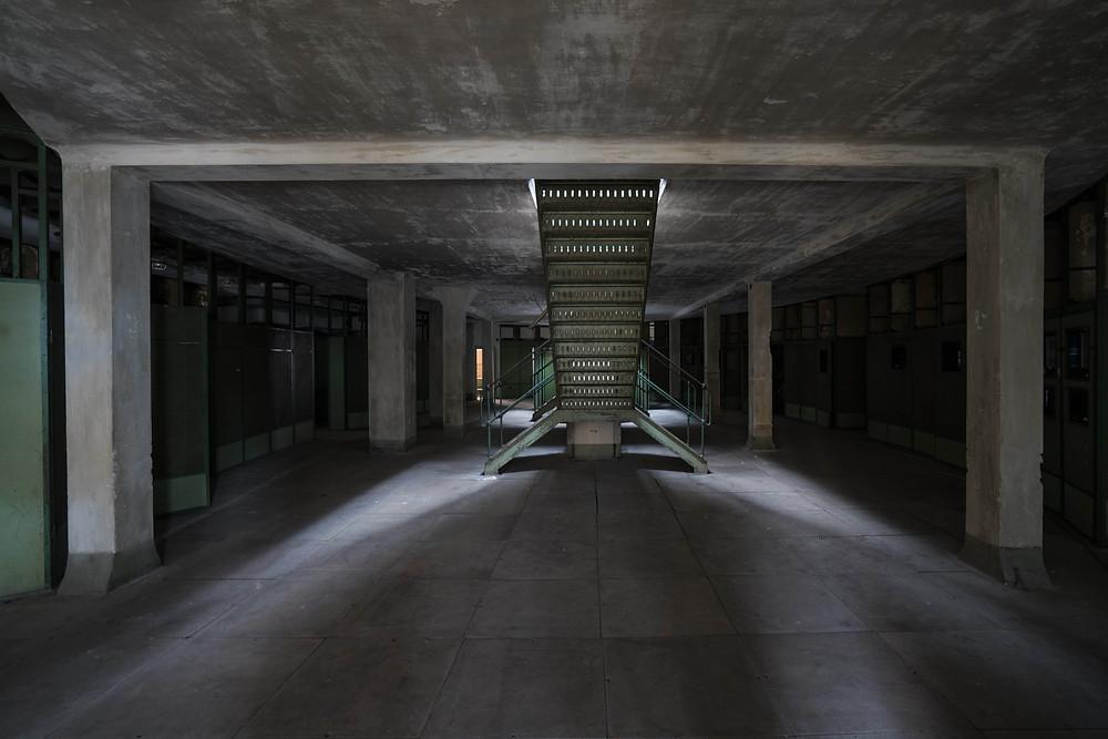 Trappeopgang der fører til Kelenföld kontrolrum