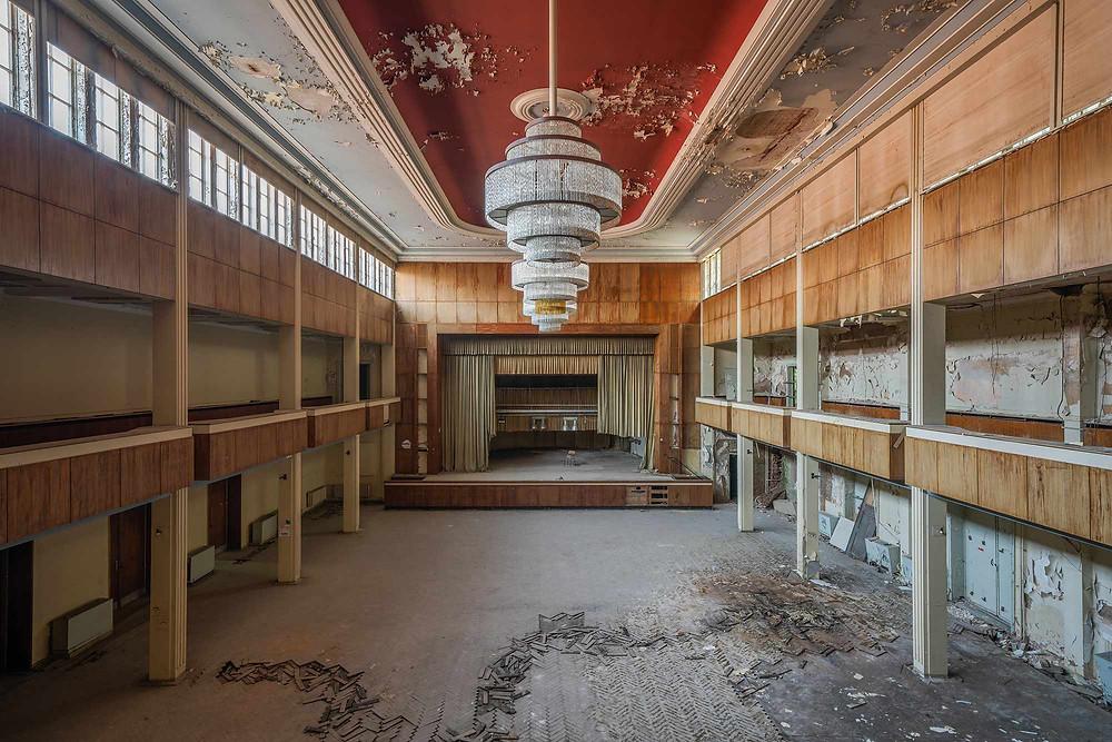 Abandoned Hotel Fürstenhof ballroom