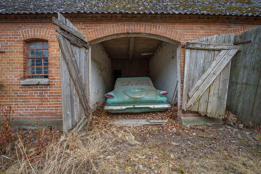 Fascinating abandoned american car