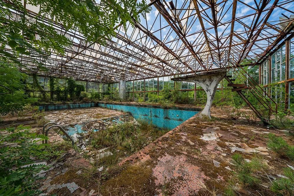 Photographic art print of Greenhouse Pool