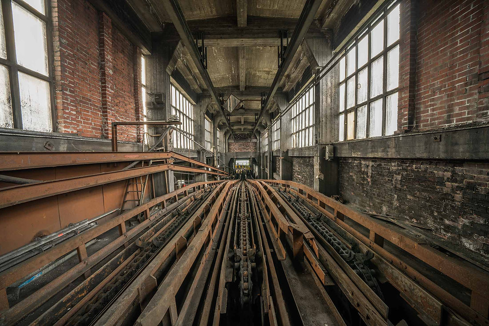 Tracks for the mine carts in abandoned zeche DB