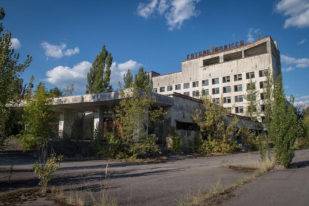 Forfaldne bygninger efter Tjernobyl ulykken