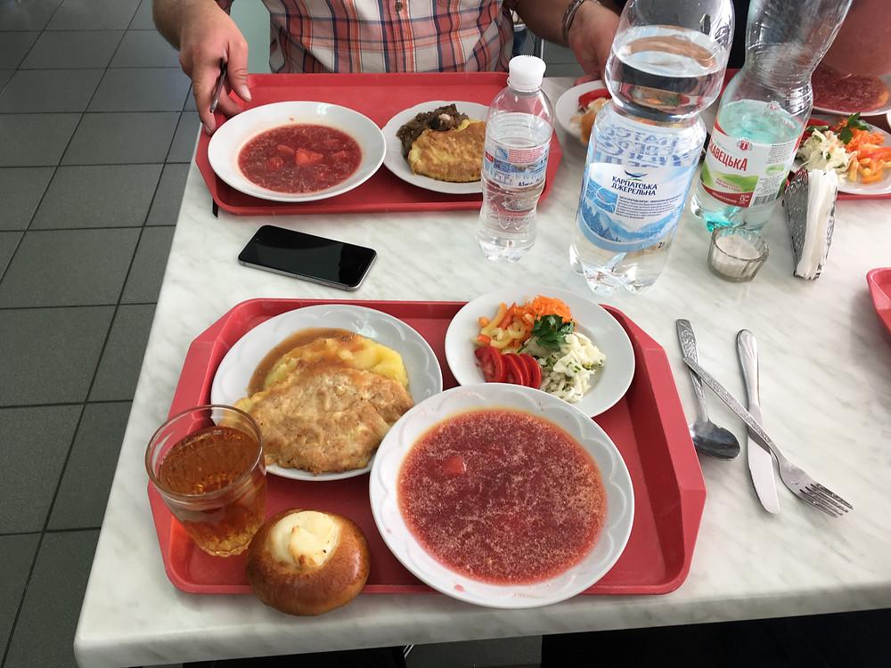 Frokost på kraftværket for Tjernobyl ulykken