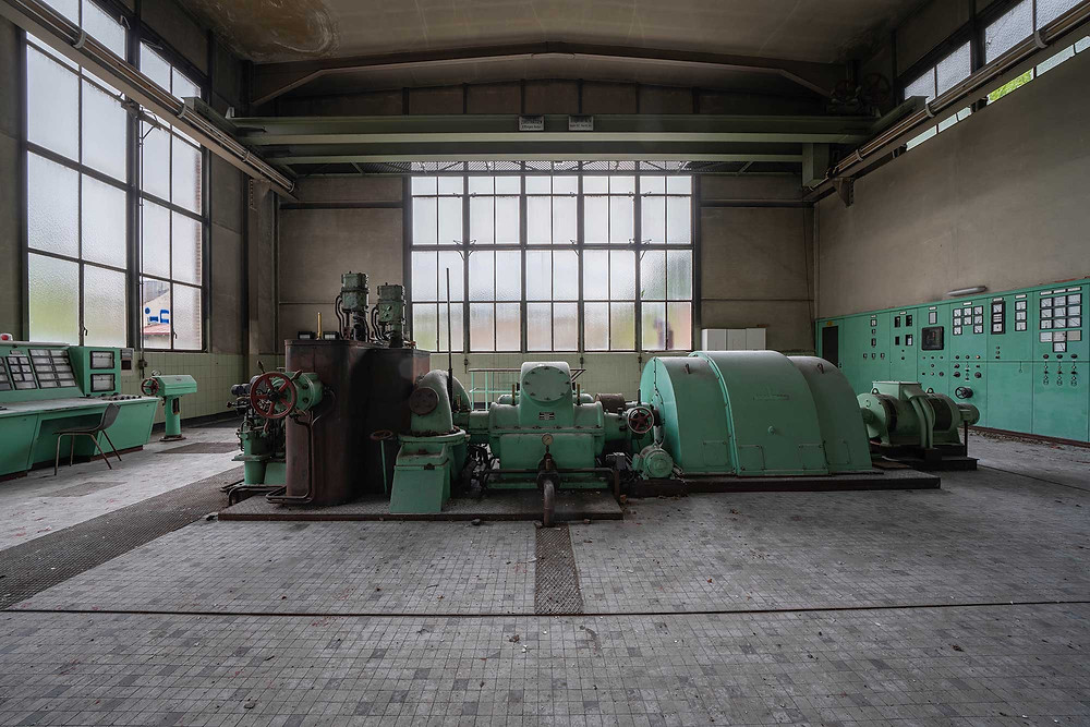 The abandoned Peppermint Power Plant