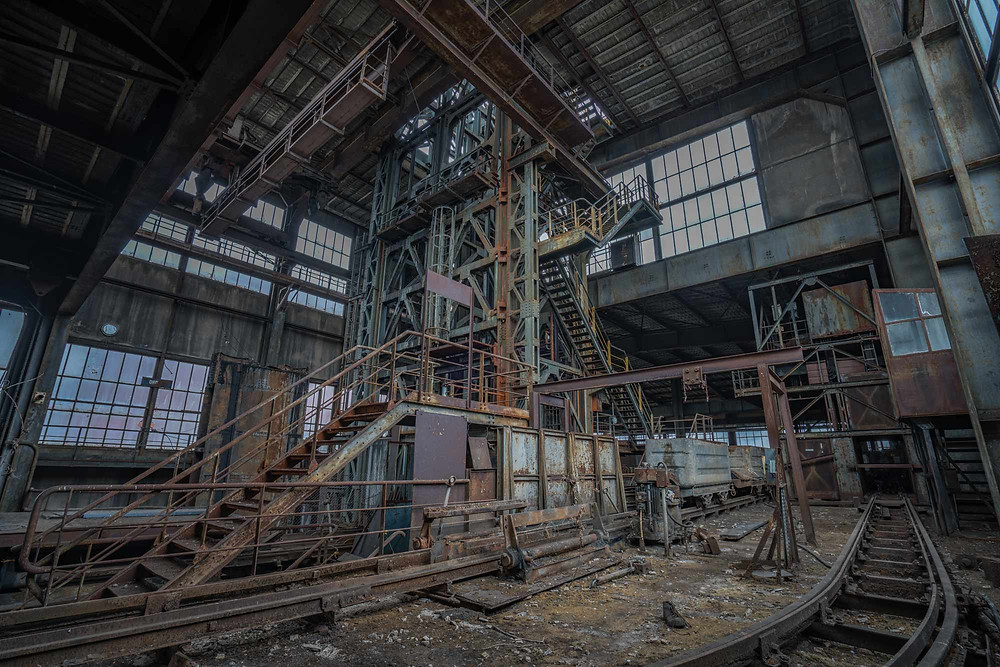 Abandoned coal mine in France