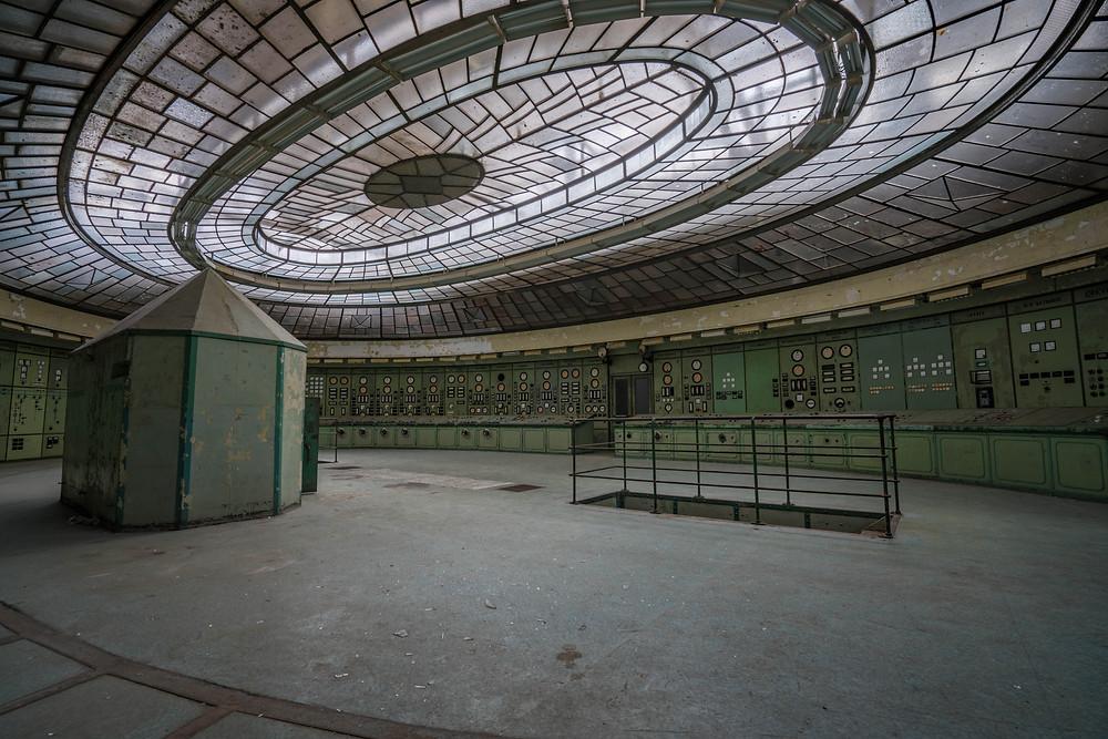 Fantastisk ovenlys loft på Kelenföld kraftværk