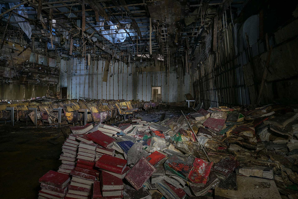 Movie theatre at abandoned school
