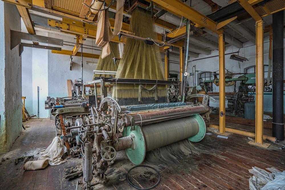Abandoned weaving factory