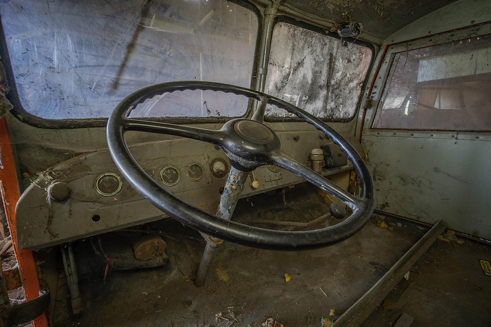 Ingen komfort i disse gamle Antarktisk køretøjer