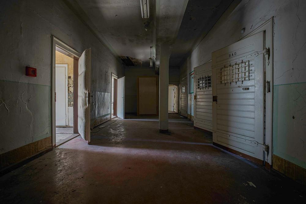 prison cells in abandoned prison