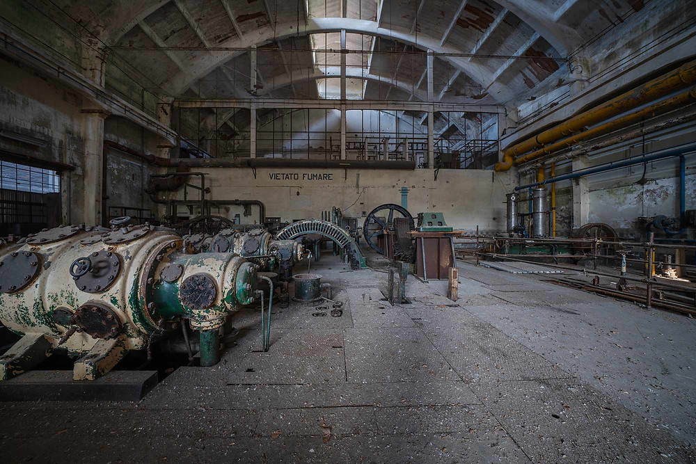 Abandoned hydro power plant in Italy