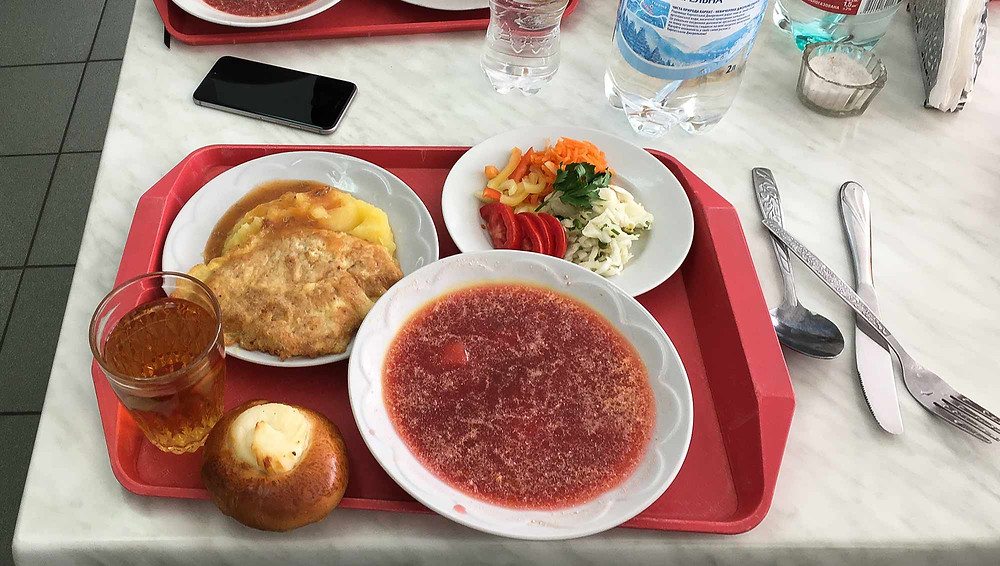 Lunch at the Chernobyl power plant