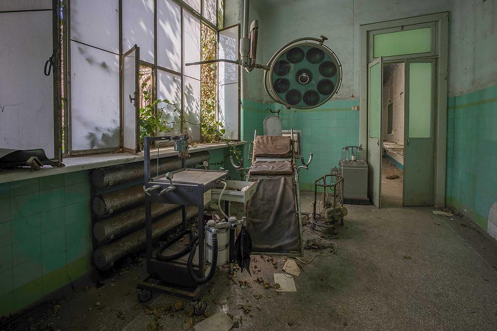Operating room on abandoned Manicomio di R