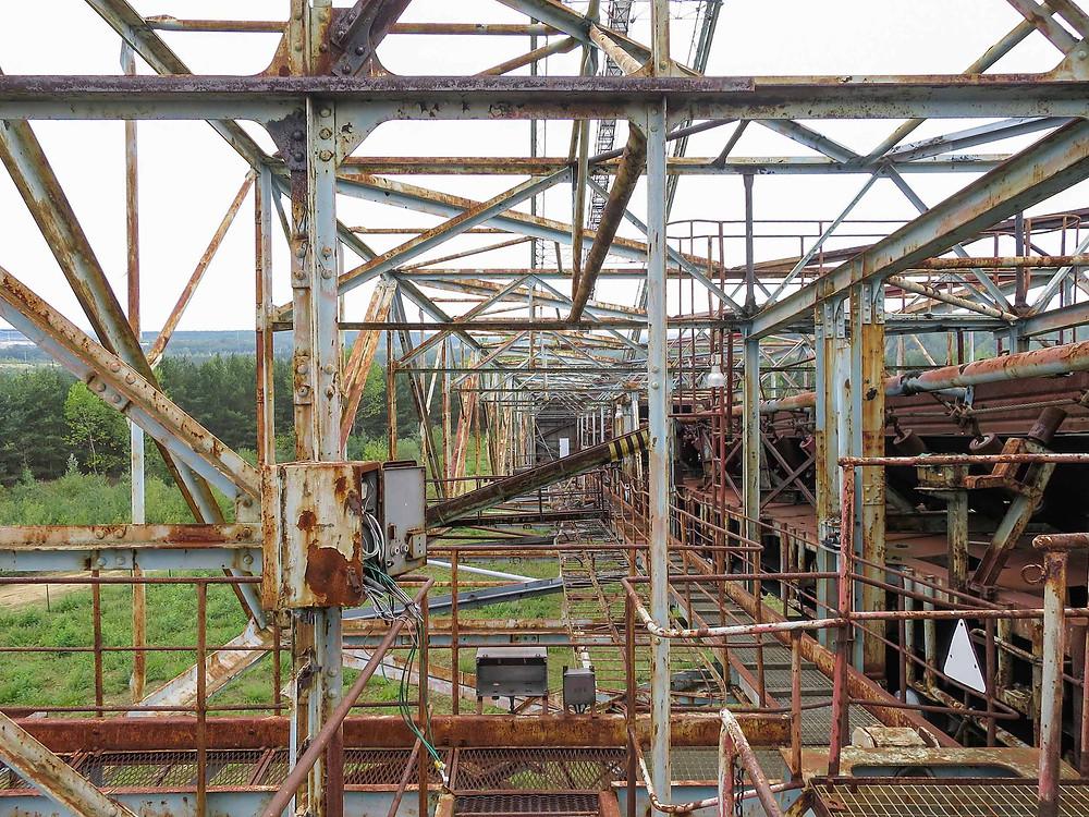 Rust på forladt kulgraver