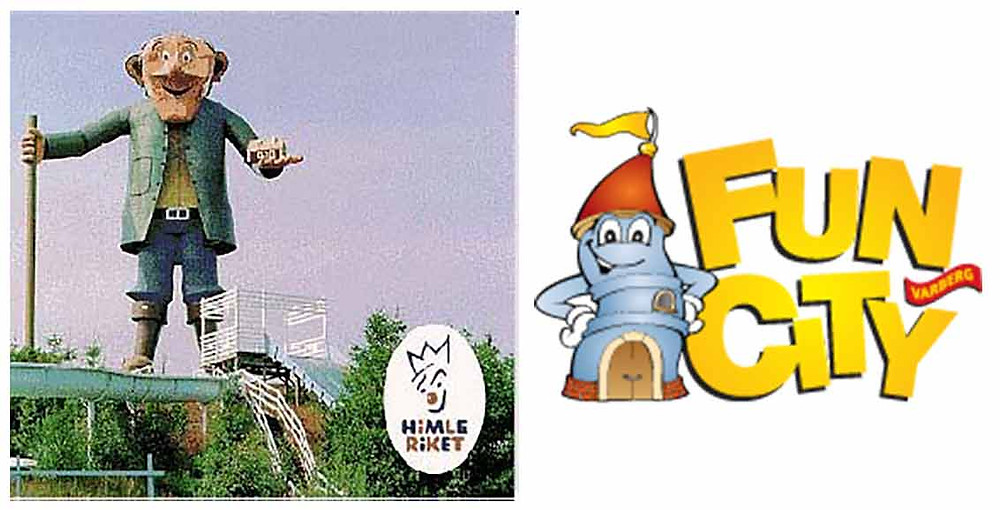 Himleriket plakat og Fun City logo