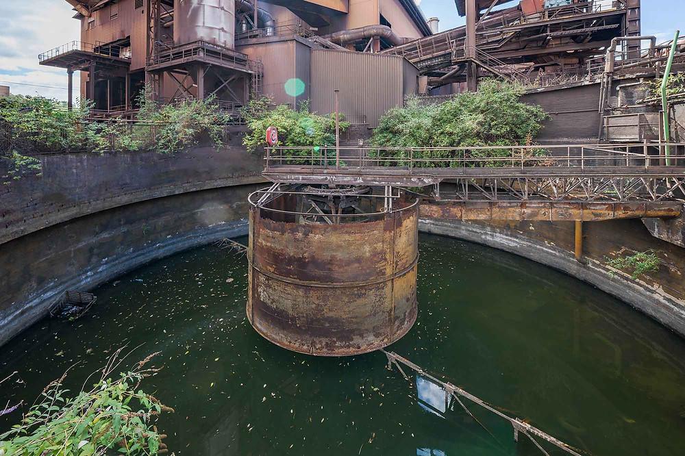 Vandrensningsanlæg på forladt metal fabrik