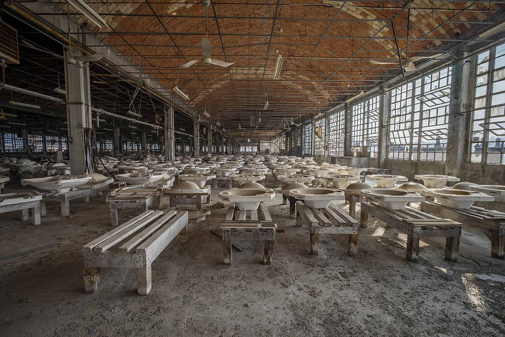 Abandoned porcelain factory in Italy