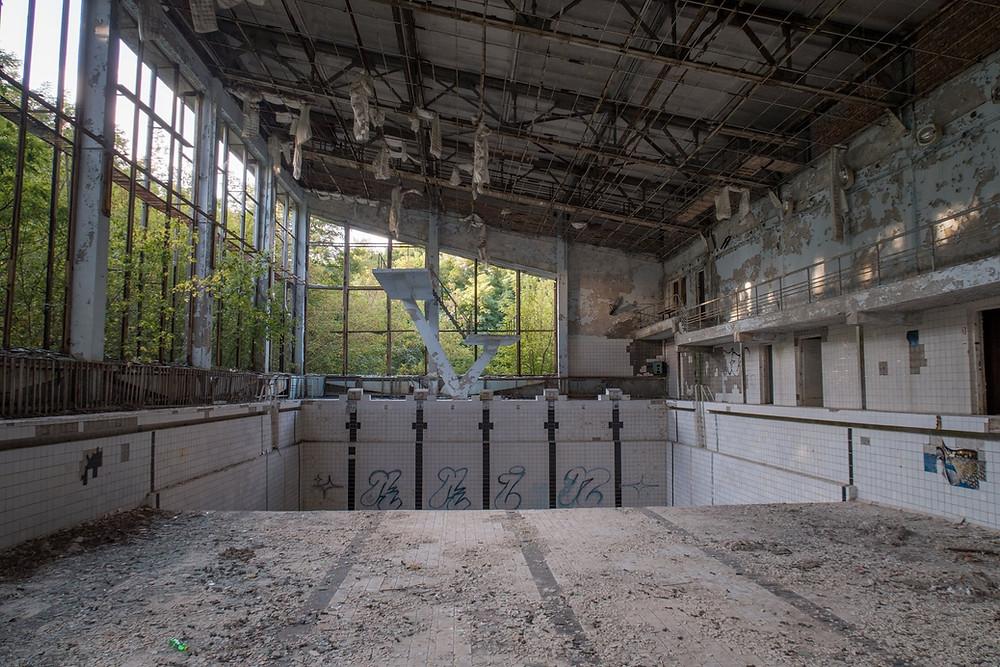 Svømmehallen efter Tjernobyl ulykken