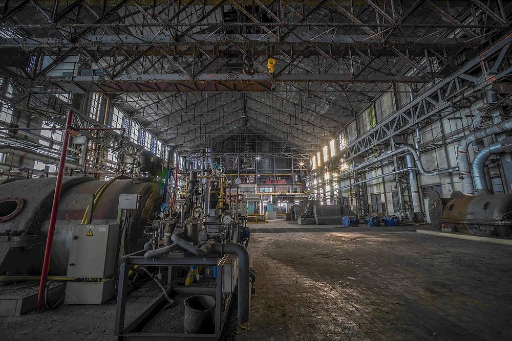 Abandoned turbine hall