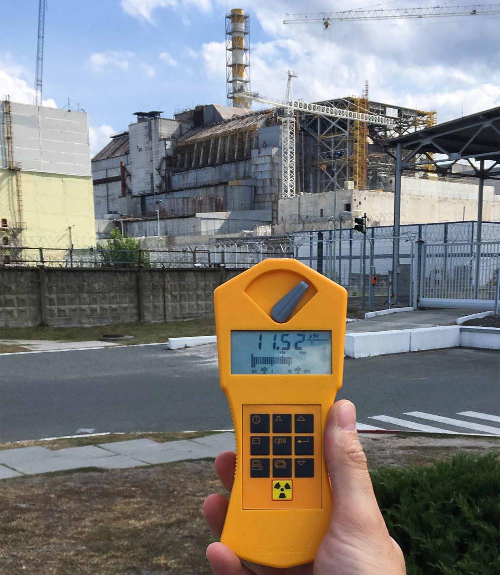 Chernobyl power plant exterior