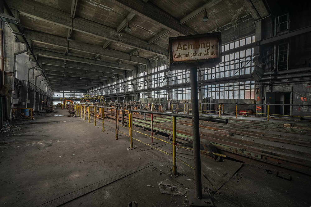 Abandoned colliery in Germany