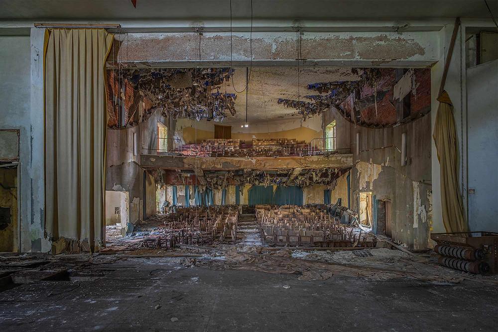 Forladt teater på hospital i italien